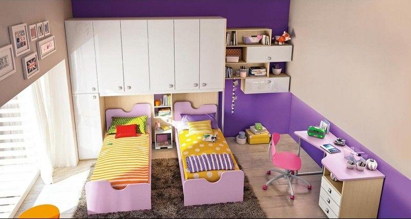 Dormitorios juveniles para dos chicas modernas - Habitaciones de dos camas juveniles ...