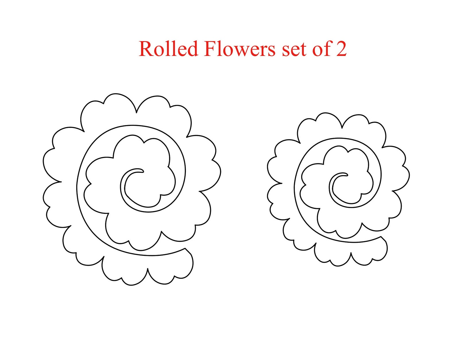 My craft spot mini release day 1 rolled flowers metal for Rolled paper roses template