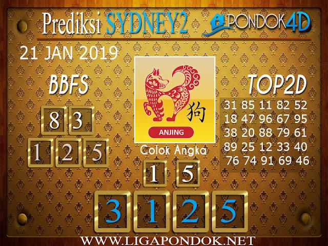 Prediksi Togel SYDNEY2 PONDOK4D 21 JANUARI 2019