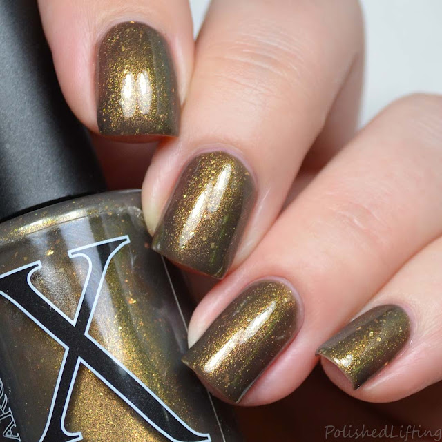 gold nail polish shifting shimmer
