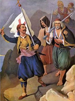 Petros Mavromichalis raises Messinia in revolt,  by Peter von Hess.