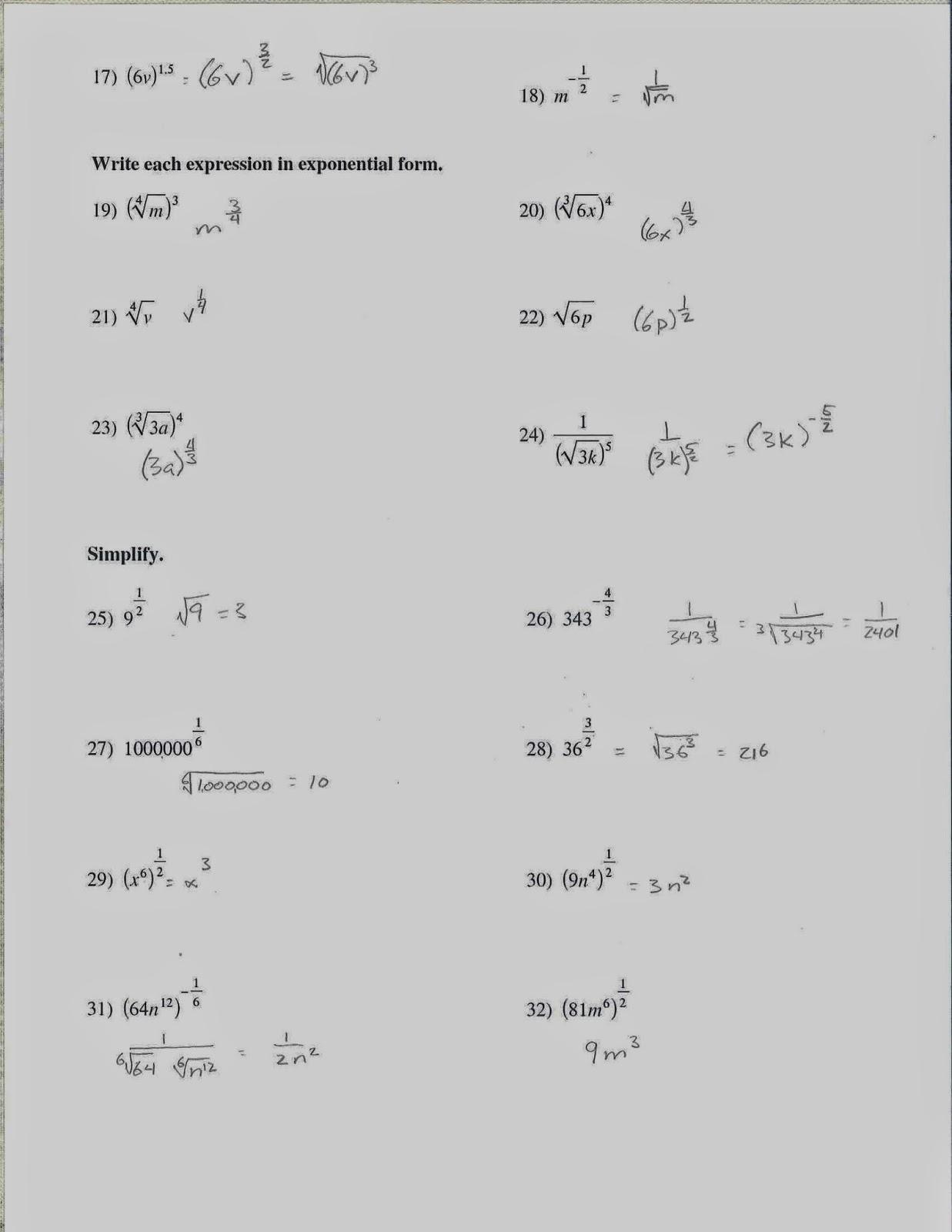 Mr Doran S Algebra 2 Radicals And Rational Graph Quiz