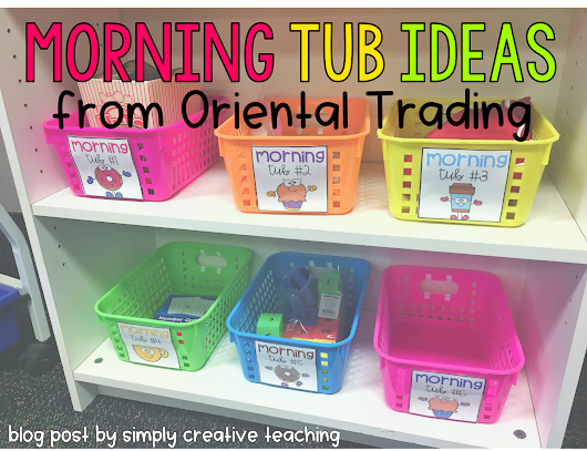 Morning Tub Ideas from Oriental Trading