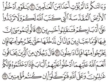 Tafsir Surat Al-Maidah Ayat 21, 22, 23, 24, 25