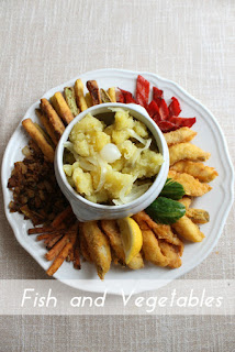 Плато с пържени зеленчуци