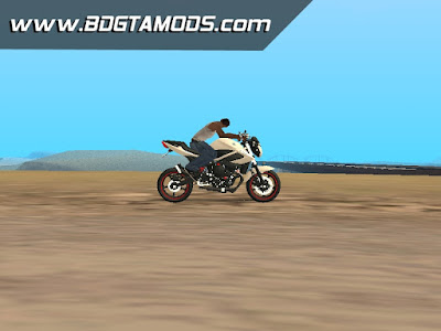 GTA SA - Yamaha XJ6 White Red 002