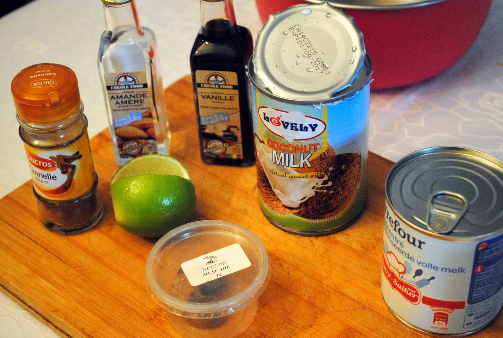 recette avec lait de coco