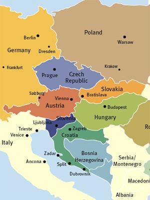 Kartta Eurooppa Alue Poliittinen Kartta Ita Euroopan Kuva