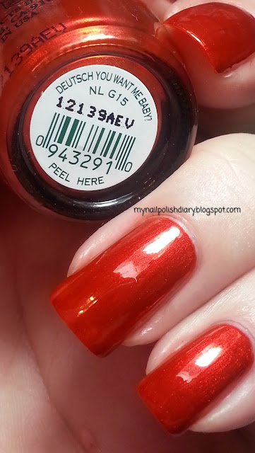 My Nail Polish Diary Opi Deutsch You Want Me Baby