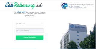 Website Milik Kominfo RI Untuk Mengecek Keamanan Nomor Rekening