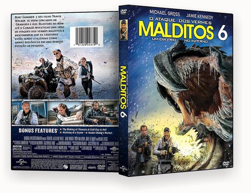 O Ataque Dos Vermes Malditos 6 Um Dia Frio No Inferno DVD-R
