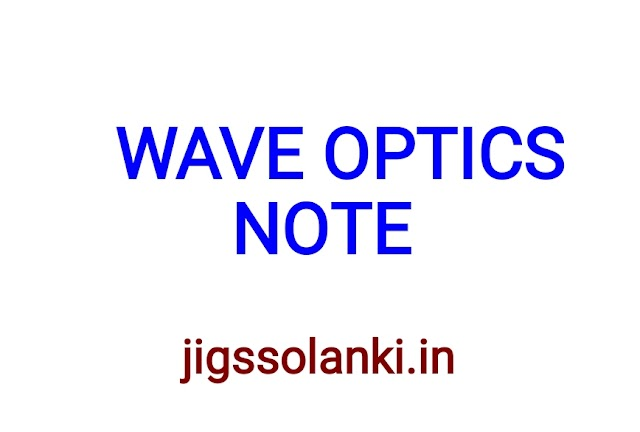 WAVE OPTICS NOTE FROM NCERT BOOK