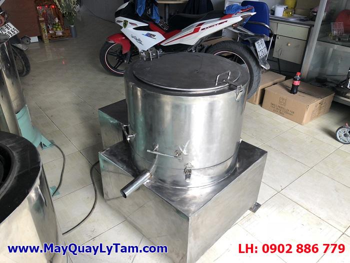 Máy ly tâm tách nước, máy vắt ly tâm inox có nắp đậy sản xuất cho ngành công nghiệp chế biến thủy sản