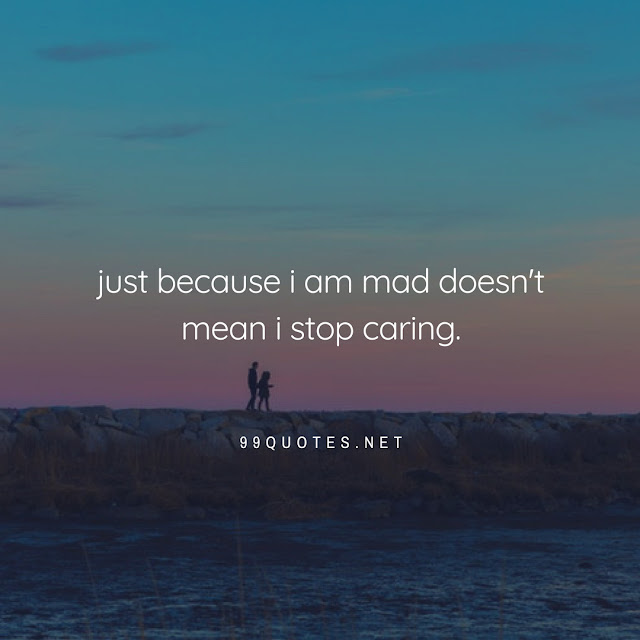 just because i am mad doesn't mean i stop caring.