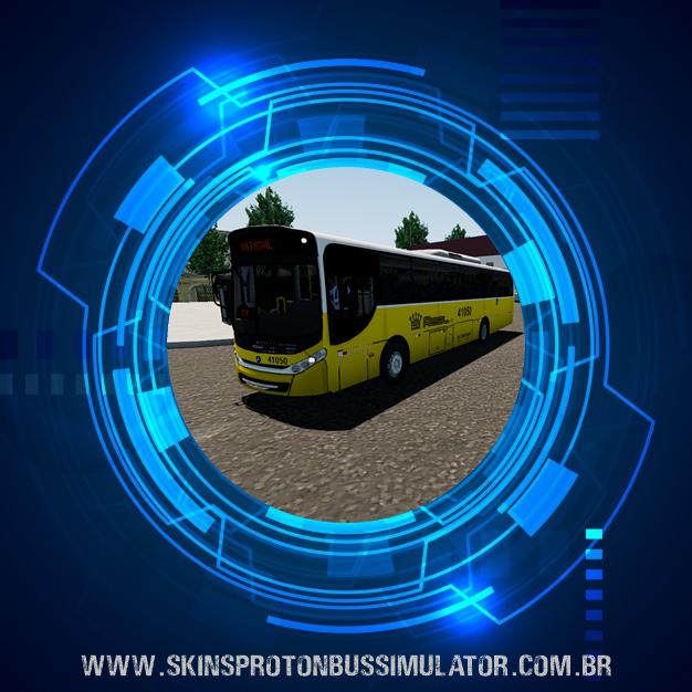 Skin Proton Bus Simulator - Caio Apache VIP III MB OF-1721 BT5 Real Auto Onibus