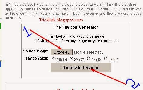 How to Add a favicon(logo) in your blog or website | Trick Link