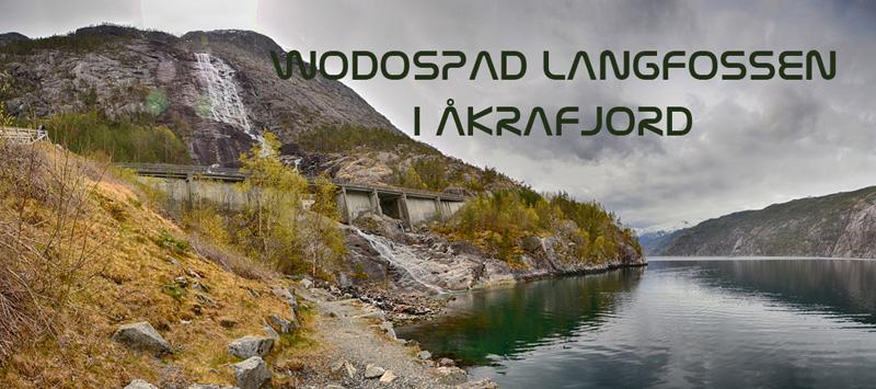 Wodospad Langfossen i Åkrafjord - atrakcje turystyczne w Norwegii w rejonie Haugesund
