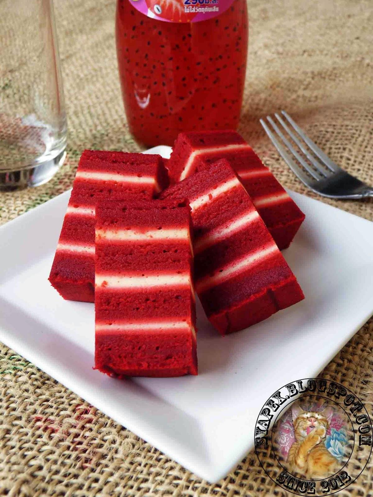 syapex kitchen Kek Lapis Red Velvet