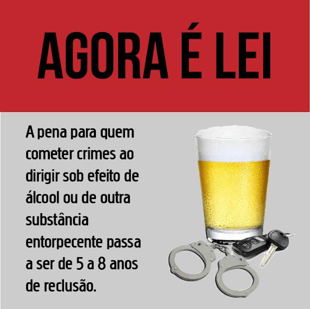 Punição será mais rigorosa para quem dirigir sob efeito de álcool em 2018
