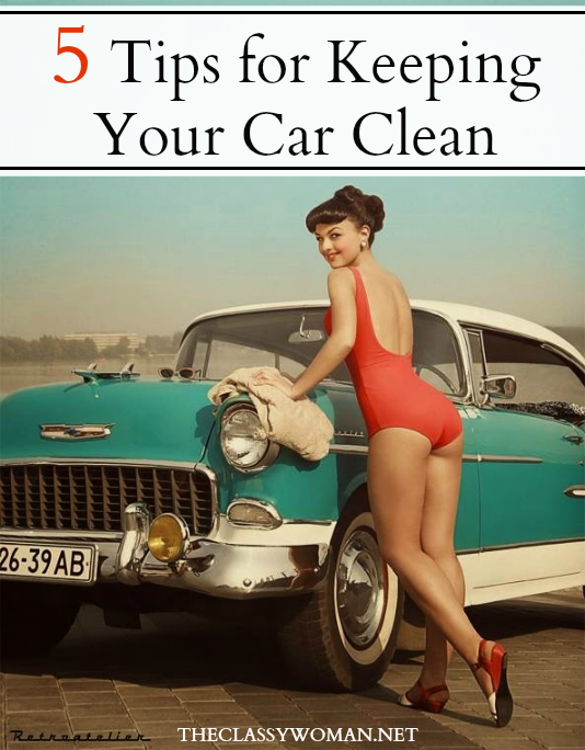 The Classy Woman How To Keep A Clean Car
