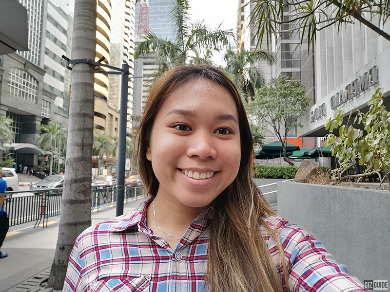 Beautified  (level 3) outdoor selfie
