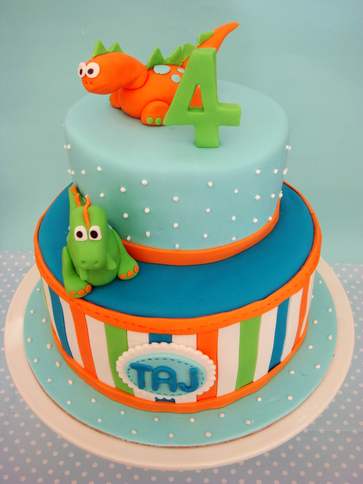 Dinosaur First Birthday Cake Toppers