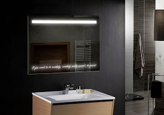 Mirror with built-in LEDs