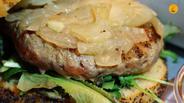 Hamburguesa francesa (10.90€) Cafetería HD Madrid