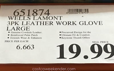 Wells Lamont Premium Leather Work Gloves - great for working outdoors