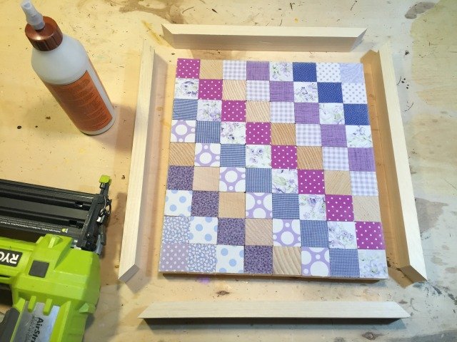 attach frame to wood quilt
