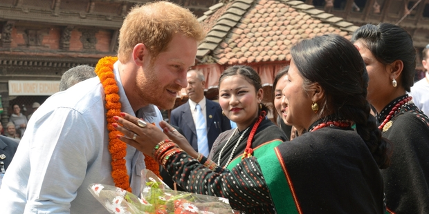 Prince Harry visits Nepal's quake-hit families