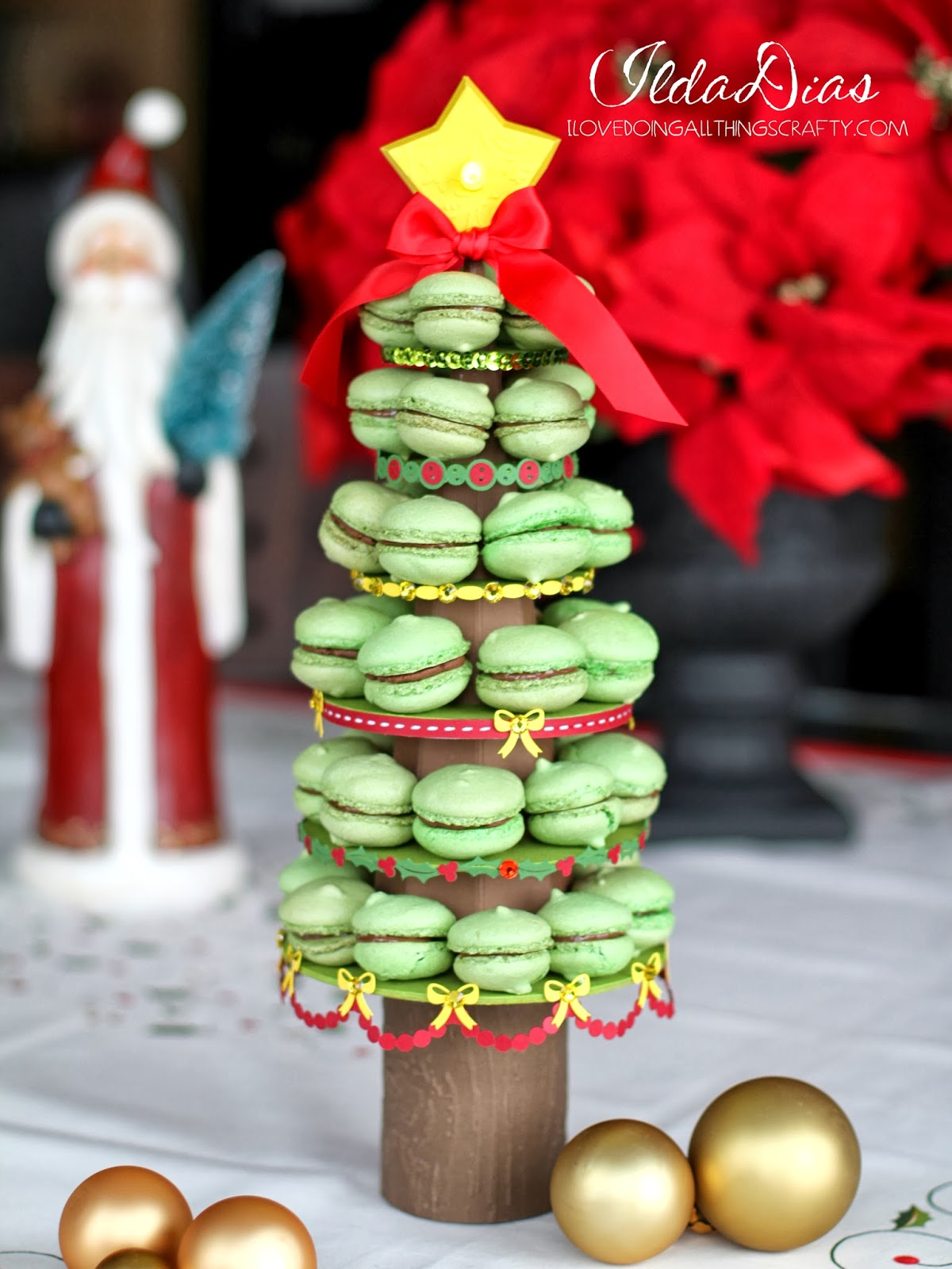 Paper Christmas Tree Tower for Treats | SVGCuts Files