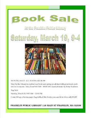 Library Books Sale - 9:00 to 4:00 Saturday