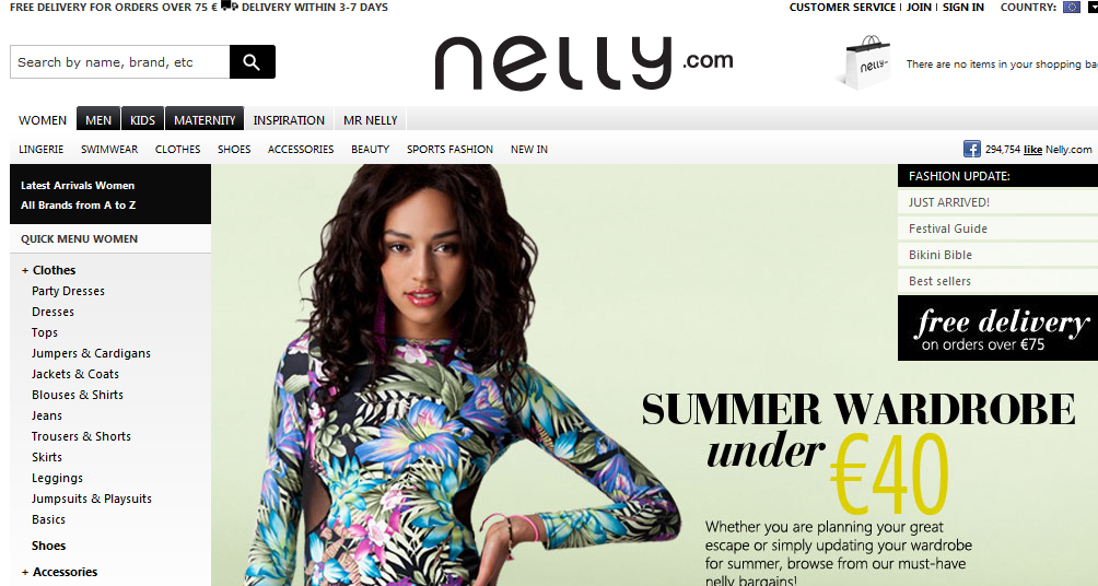 fe42fff575d E-shop: Γνώρισε το κατάστημα Nelly για Ρούχα-Παπούτσια -Αξεσουάρ ...