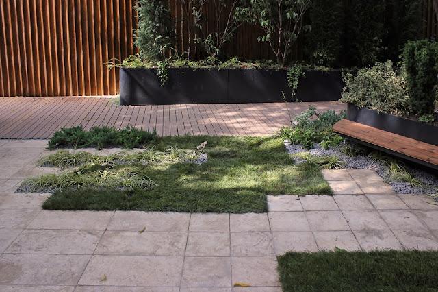 gradina mica plante de umbra deck gard de lemn idei gard lemn peisagistica