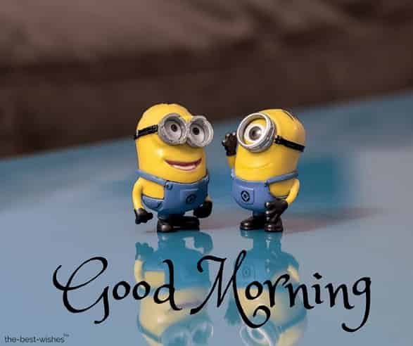 cute good morning wallpaper with minions