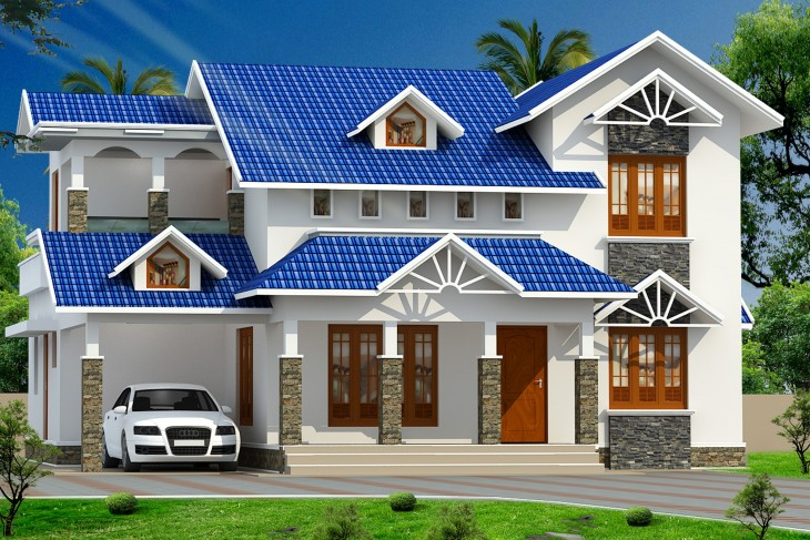 2244 Sqft 4bhk Double Storey Home Design