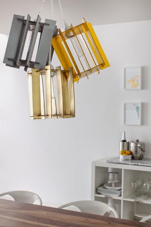 la reines blog lampe aus pappe basteln designer lampe selbstgemacht. Black Bedroom Furniture Sets. Home Design Ideas
