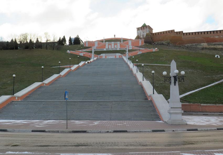 Чкаловская лестница.