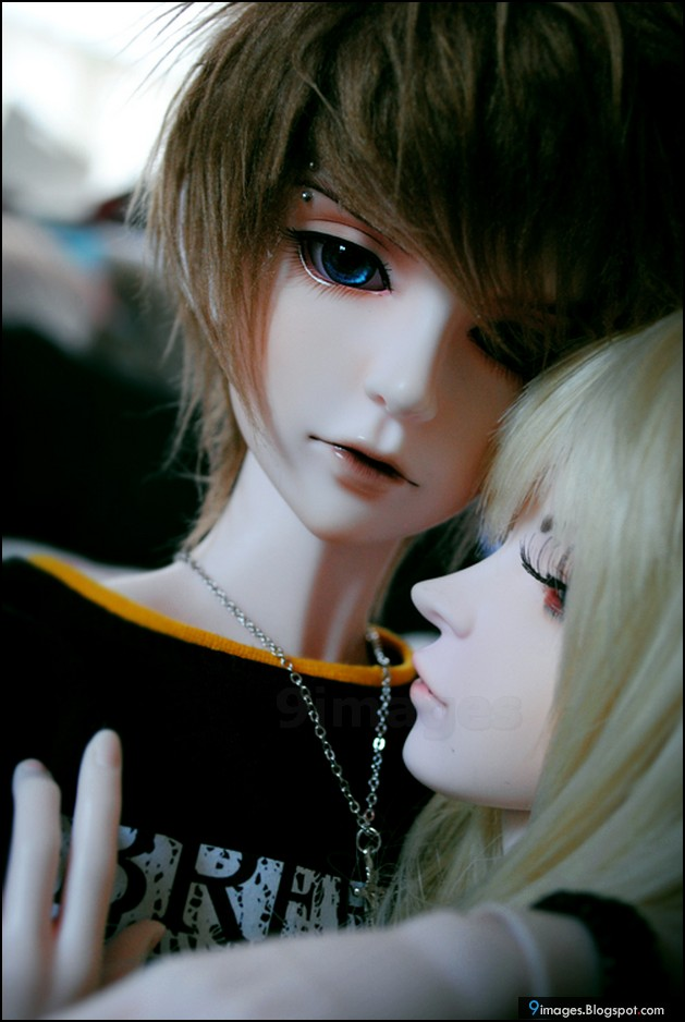 doll couple hug cute beautiful