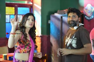 Actress Richa Panai Stills in Half Saree at Rakshaka Bhatudu Sets  0025.JPG