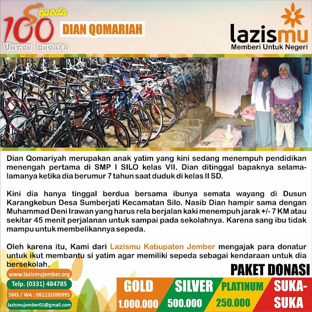 Aksi Donasi 100 Sepeda Putri Dhuafa