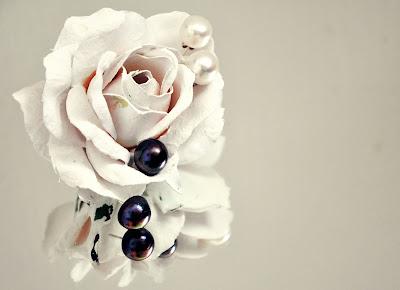 Perlenstecker schwarz & weiss