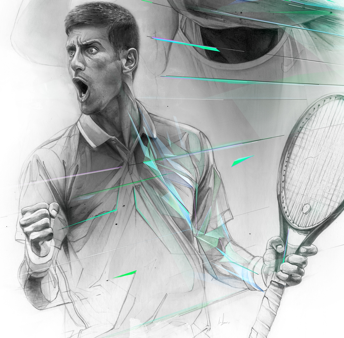 14-Novak-Djokovic-Alexis-Marcou-Traditional-and-Digital-Celebrity-Drawings-www-designstack-co