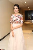 Ritu Varma smiling face Cream Anarkali dress at launch of OPPO New Selfie Camera F3 ~  Exclusive 058.JPG
