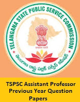 TSPSC Assistant Professor Previous Year Question Papers