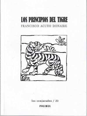 Los principios del tigre, de Francisco Acuyo: al dictado felino, Ancile