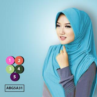 Jual murah jilbab instant polos
