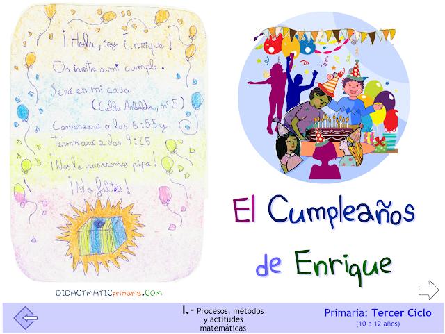 El cumpleaños de Enrique.