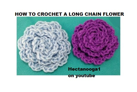 Hectanooga Patterns Free Crochet Pattern Long Chain Flower